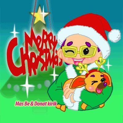 Merry X-mas & Happy New year from Mas Be & Donat kirik. Feel free to use this emoticon.