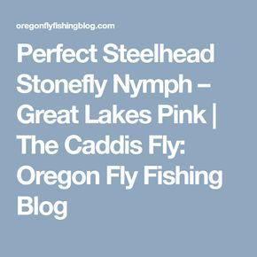 Perfect Steelhead Stonefly Nymph – Great Lakes Pink | The Caddis Fly: Oregon Fly Fishing Blog
