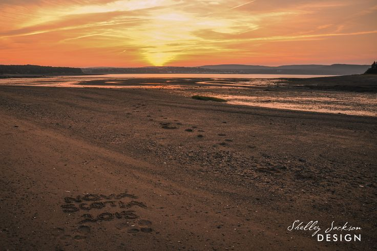 Sunset on the Bay of Fundy, Smiths Cove, Nova Scotia - low tide