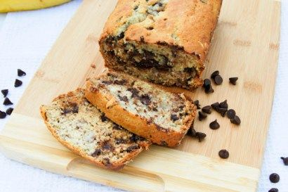 This chocolate chip banana bread is a twist on a classic banana bread recipe. Chocolate chips are added into this irresistible treat.