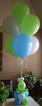 frog balloons | Kids Birthday Party Balloon Decorations