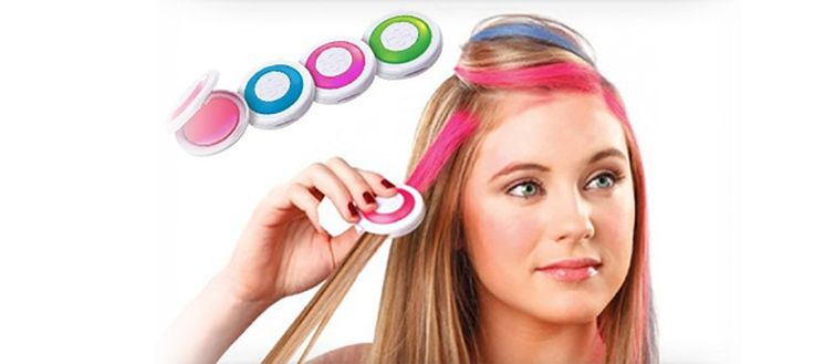 Press and slide hair chalk