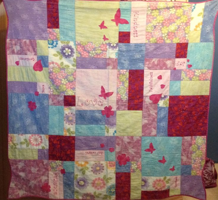 Fruits of the Spirit - the first quilt I made - a gift for my Daughter Elizabeth