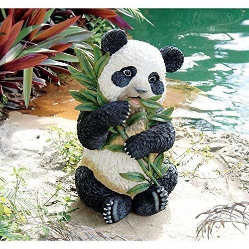 Animal Sculpture Yard Art Panda Outdoor Statue Garden Flower Bed Porch  Patio New