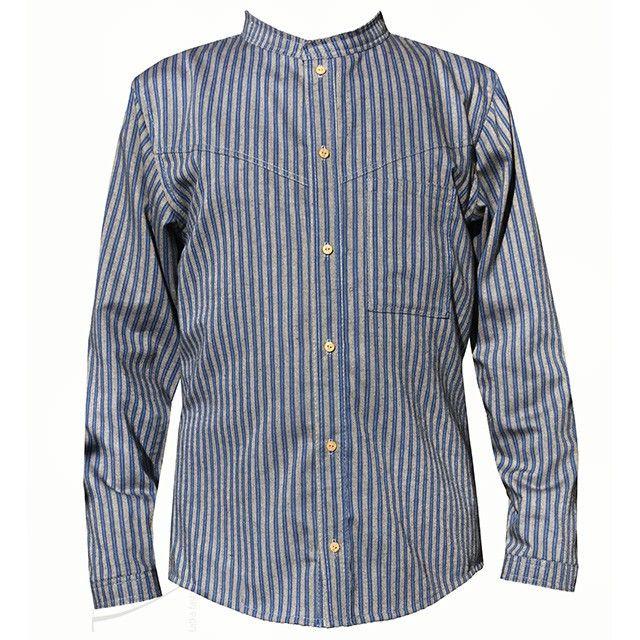 Oryginalna koszula w paski dla niego. Do zamówienia w dowolnym rozmiarze w butiku Łatka fashion.