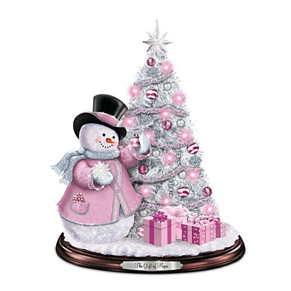 Gift Of Hope Tabletop Pink Christmas Tree - Breast Cancer Awareness