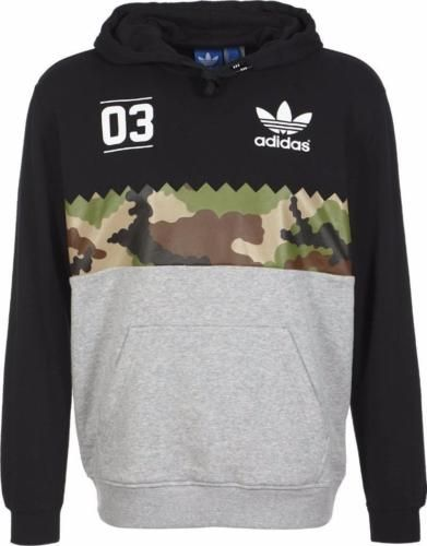 63c53876801 Mens New adidas Originals Serrated Trefoil Hoody sweatshirts Top In ...