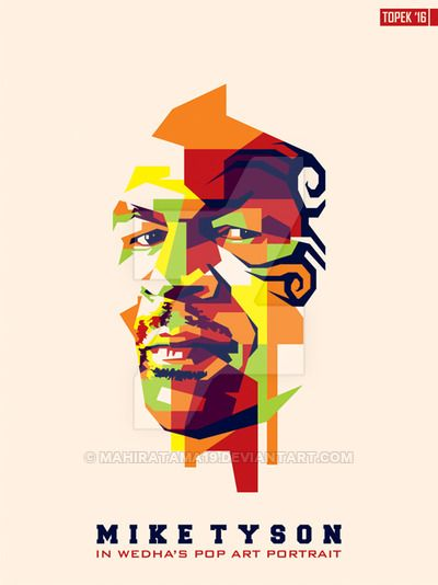 Mike Tyson in WPAP by mahiratama19.deviantart.com on @DeviantArt
