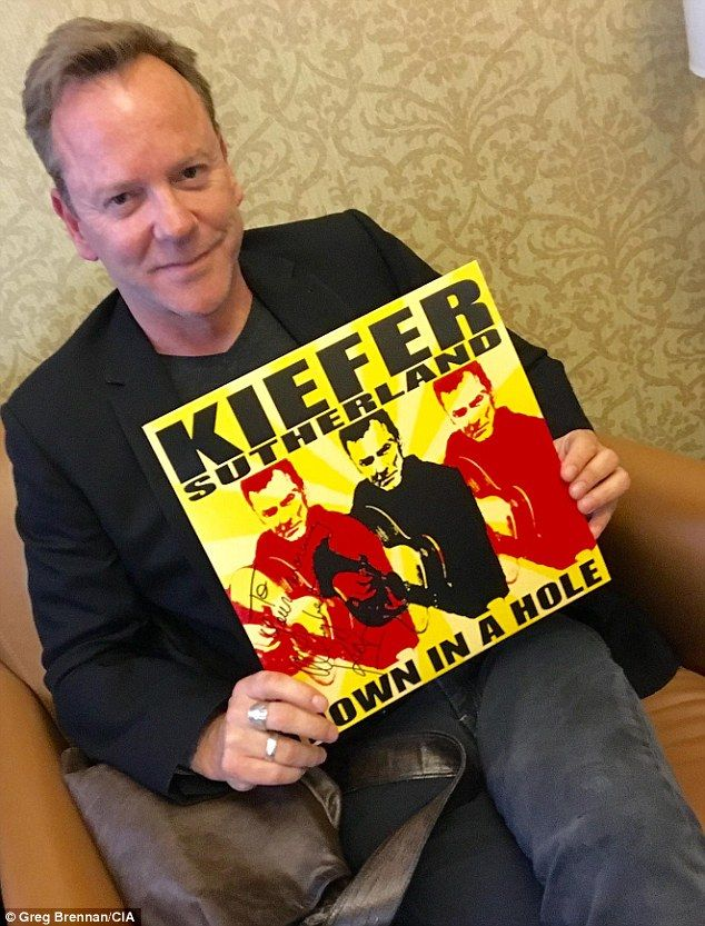 'Never about a girl'! Kiefer Sutherland reveals his latest single Can't Stay Away is about a BAR!
