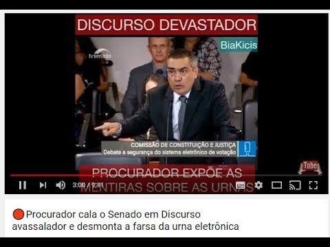 🔴Procurador  Senado Discurso avassalador  desmonta a Farsa da Urna Eletr...