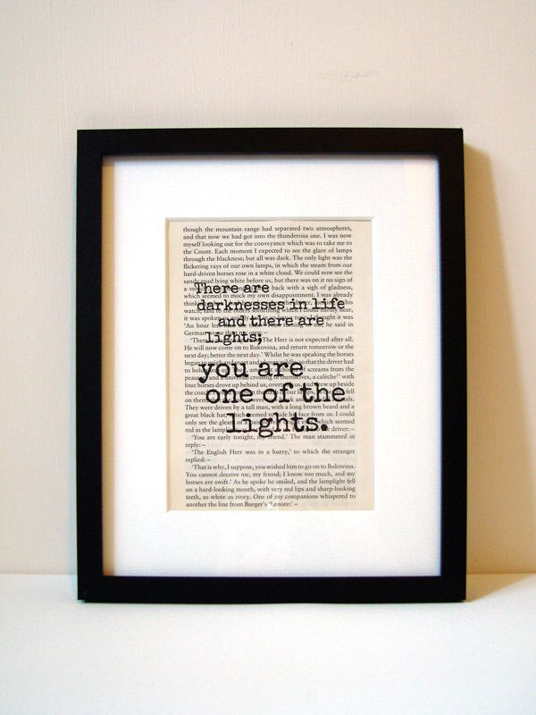 """Dracula - Book Quote Print - Birthday Gift - Gift For Best Friend - Christmas Gift - """"There are darknesses in life and there are lights"""" by NoodleBookArt on Etsy https://www.etsy.com/listing/196820355/dracula-book-quote-print-birthday-gift"""