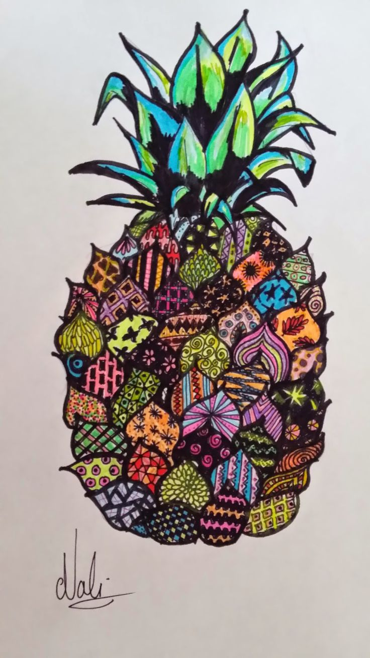 17 best images about pineapples on pinterest pineapple - Ananas dessin ...