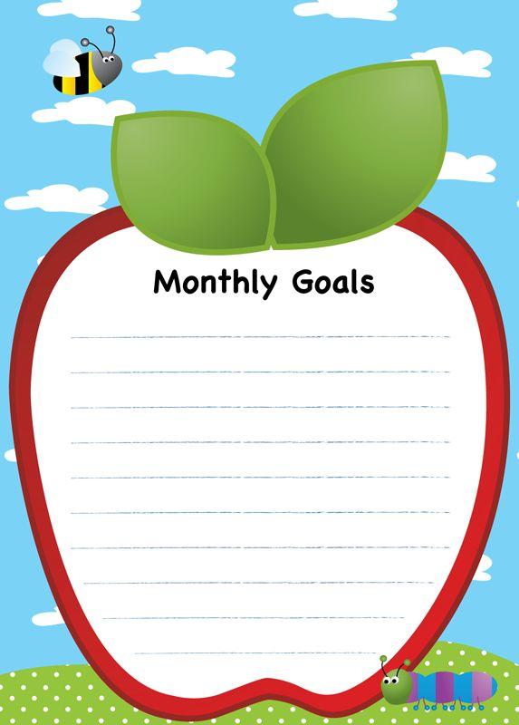 Póster Básico Monthly Goals.  Ideal para las propuestas comunes del mes, al quedar por escrito todos tus alumnos seguro se sentirán comprometidos a participar.  Solicitalos al 01 (222) 211 02 70