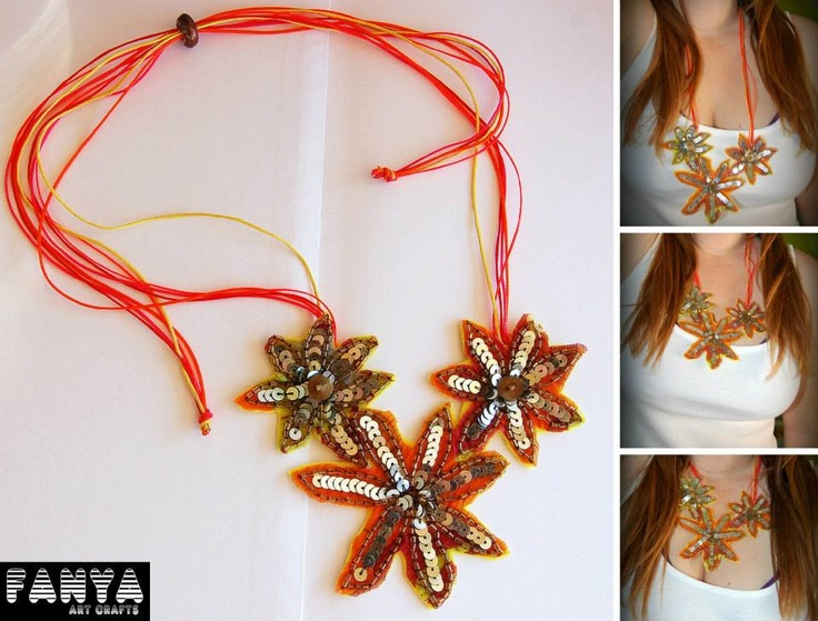 "necklace ""glam flores"""