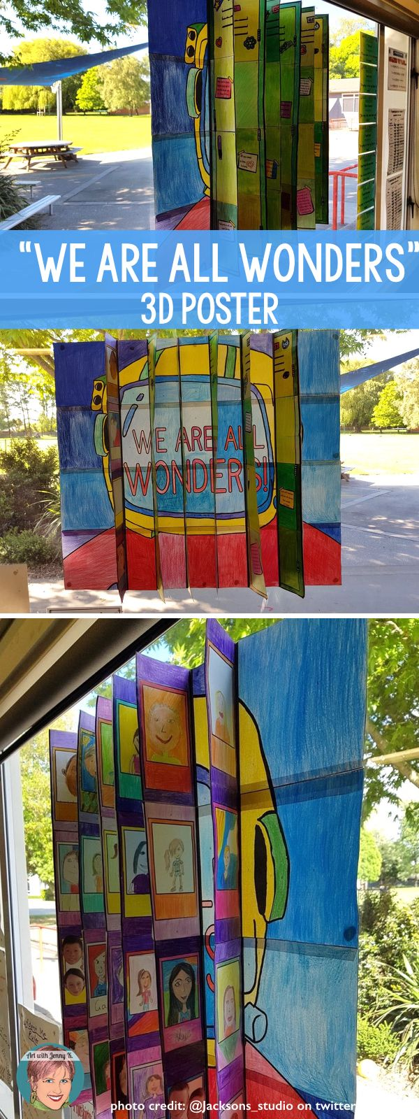 A unique and collaborative way to bring home the message to your students that we are all wonders! If you are teaching the Wonder book you will love this - but even if you aren't this is great for your classroom! #wonderactivities #choosekindness #weareallwonders