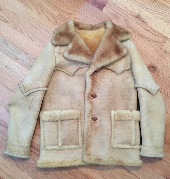 Men 039 s 42 Shearling Coat Ardney Suede Lamb 100 | eBay