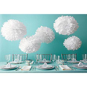 DIY tissue paper pom poms by Martha Stewart
