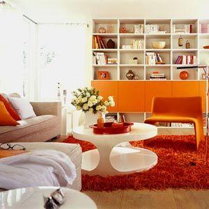 оранжевая мебель в интерьере - Поиск в Google