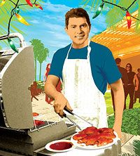 No matter how fired up Bobby Flay gets work-wise, the affable redhead is never happier than when he's manning his own grill and connecting with friends at casual get-togethers. Try his irresistible barbecue sauce on chicken, fish or burgers at your next party: http://www.familycircle.com/recipes/grilling/food-network-chef-bobby-flays-barbecue-sauce-recipes/?page=2