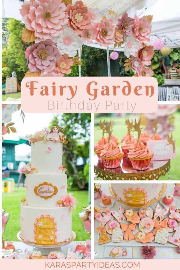 Fairy Garden Birthday Party Via Kara S Party Ideas Karaspartyideas Com Fairy Garden Party Fairy Garden Birthday Party Garden Party Birthday Garden Birthday