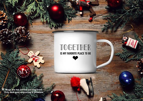 CHRISTMAS Gift Mug Personalized Enamel Coffee MUG Custom