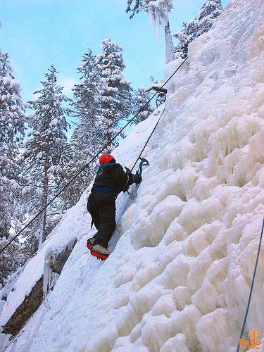 Ice climbing in Korouoma