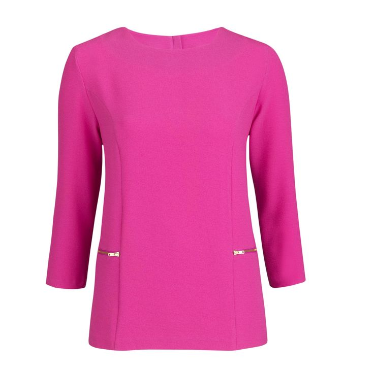 Bubblegum Pink Trend - Definitions Zip Detail Top, £29, Very  http://www.very.co.uk/