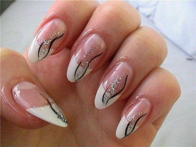 Gelfingernägel Bilder mit Streifen Marinozka