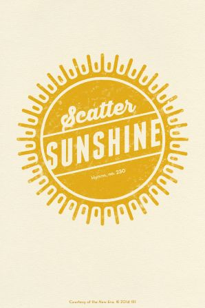 "This image, produced by the Church of Jesus Christ of Latter-day Saints, makes a fun gift tag for your own version of a ""Scatter Sunshine Bag."""