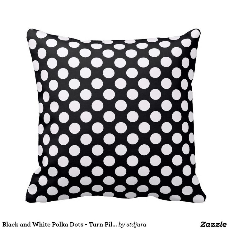Black and White Polka Dots - Turn Pillow