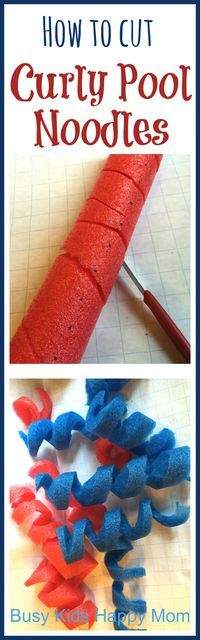 How to Cut Curly Pool Noodles