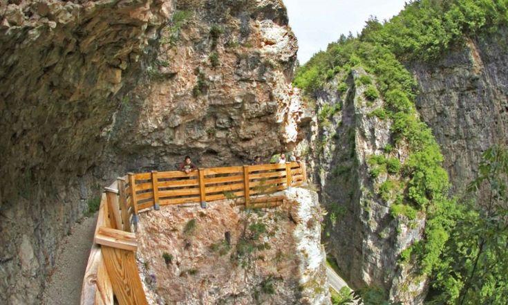 In Val di Non ci sono luoghi modellati dall'acqua che non hanno eguali nell'arco Alpino. Veri e propri canyon scavati nelle dolomiti|