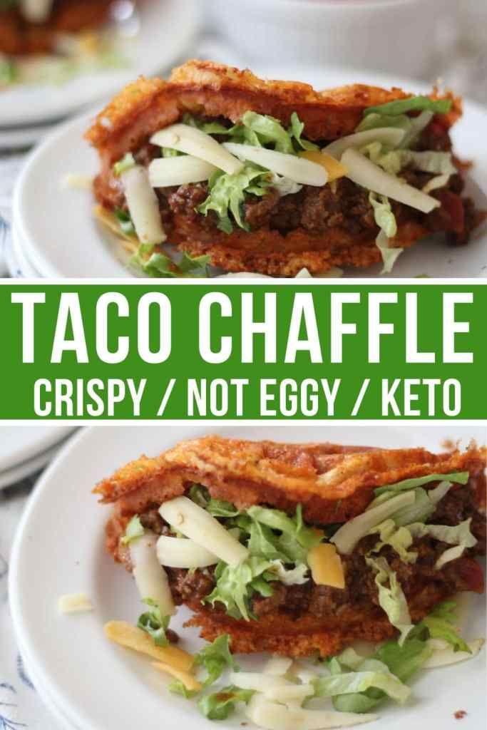 Diese knusprigen Taco Chaffles bringen Tacos mit kohlenhydratarmer Ernährung auf ein völlig neues Level …