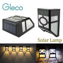 Lámpara de pared Solar 2 LEDs con Energía Solar Luz Solar LED IP44 a prueba de agua Al Aire Libre Jardín Patio Camino Lámpara de La Cerca(China (Mainland))