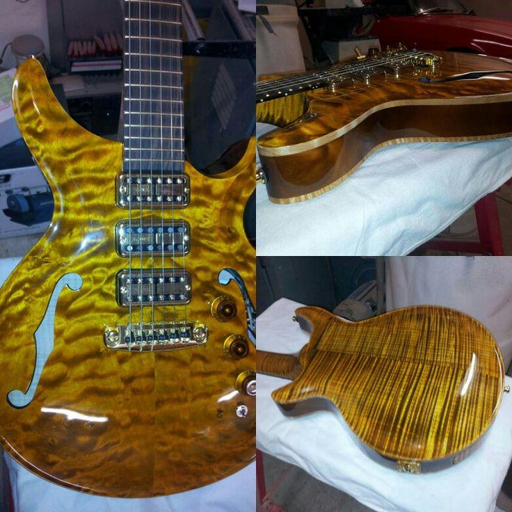 Diquattro custom guitar