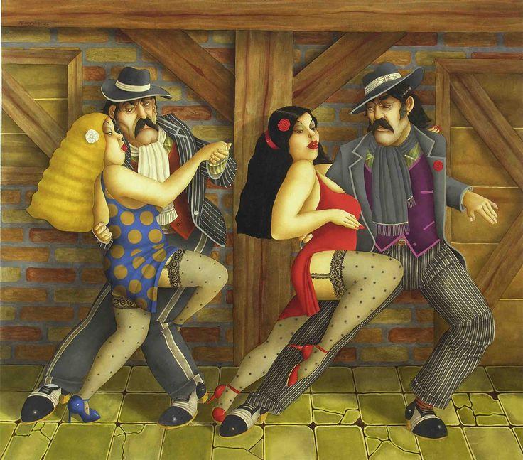 N/A - Milonga para los orientales (2005) - Óleo s/tela 144 x 163