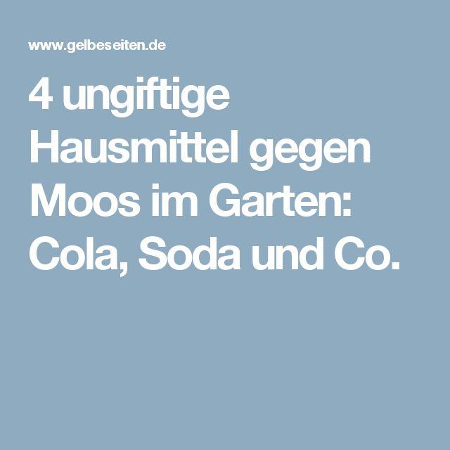 4 ungiftige hausmittel gegen moos im garten cola soda und co brauchbares. Black Bedroom Furniture Sets. Home Design Ideas