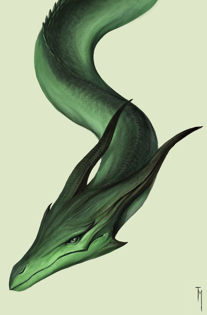 green dragon head by TatianaMakeeva