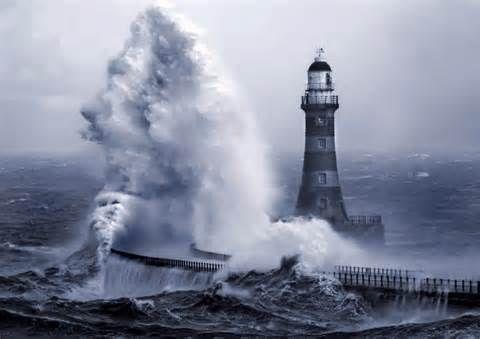 Waves crashing on lighthouse | Around the World | Pinterest