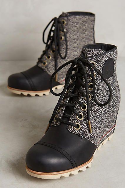 Sorel Elsie Wedge Boots - anthropologie.com