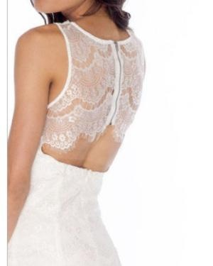 White Lace Open Back DressOpen Back Dresses, Fashion, Lace Open, Style, Clothing, Dresses Ideas, White Lace, Lace Back, Open Backs