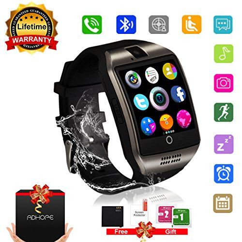 Smart Watch Bluetooth Smartwatch with Camera TouchScreen SIM Card Slot, Waterproof Phones Smart Wrist Watch Sports Fitness Tracker Compatible with iPhone Android Samsung Huawei Sony for Kids Men Women. Multi-Function Dial through watch SIM or Bluetooth discretionary, Pedometer, Calories Calculation, Sedentary, best offer