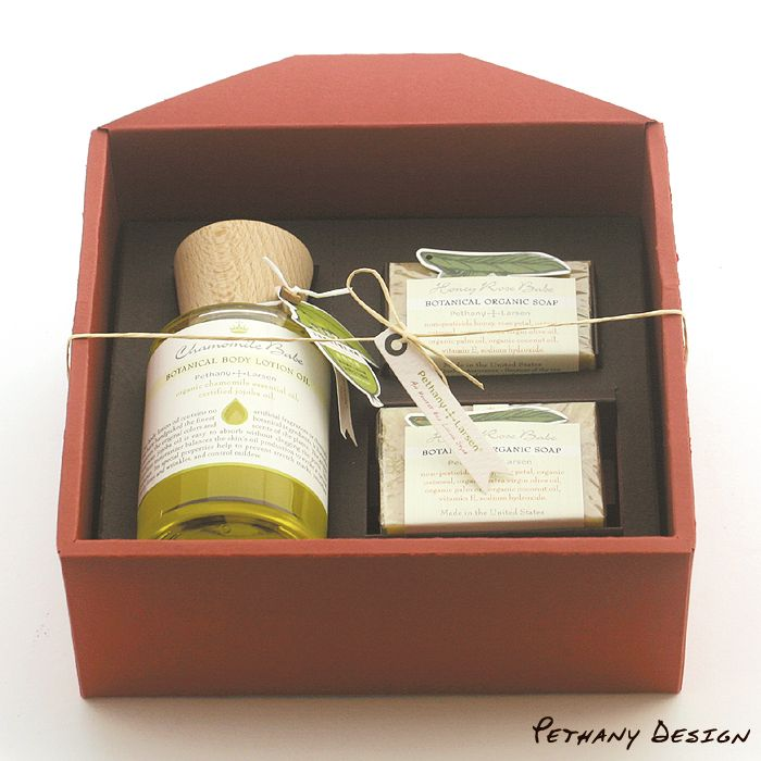 [ Organic Soaps & Body Lotion Gift Box ] Material: Soap, Body Lotion Oil, Recycled Paper. Designed in 2015 for Pethany+Larsen. Made in the United States, Taiwan.