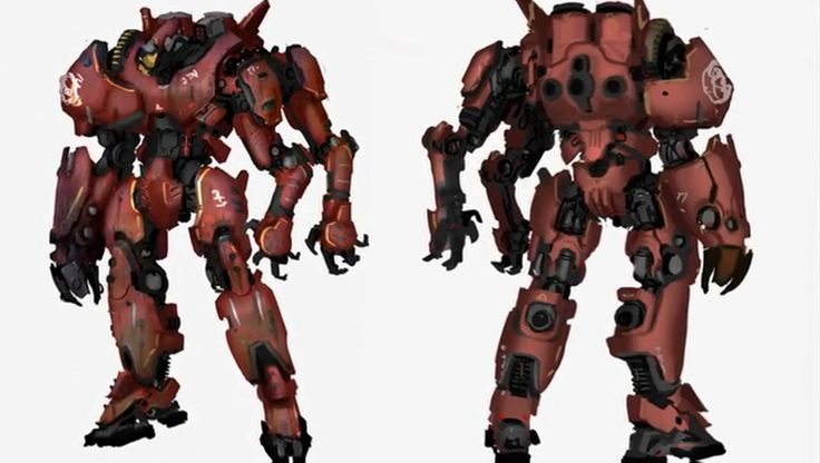 Machine Art. Pacific Rim Jager. Giant Robot. Crimson ... Pacific Rim Crimson Typhoon Art