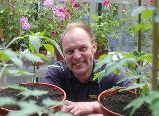 Univ's Head Gardener Bruce Taylor.