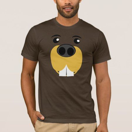 Bucky Beaver Face T-Shirt - tap to personalize and get yours