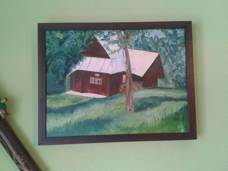 Cottage, oil on canvas, framed (50 x 40 cm) SOLD