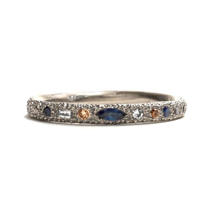 Eternal Love Diamond and Sapphire Ring