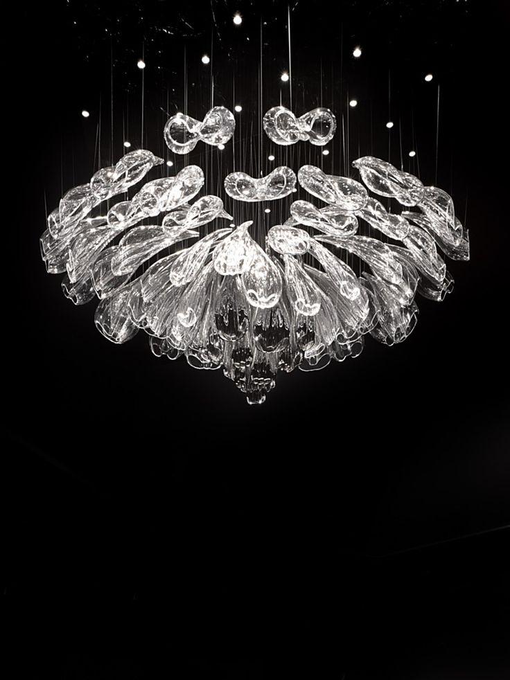 LED Handmade Blown Glass Chandelier ALICE By Lasvit Design Petra Krausová
