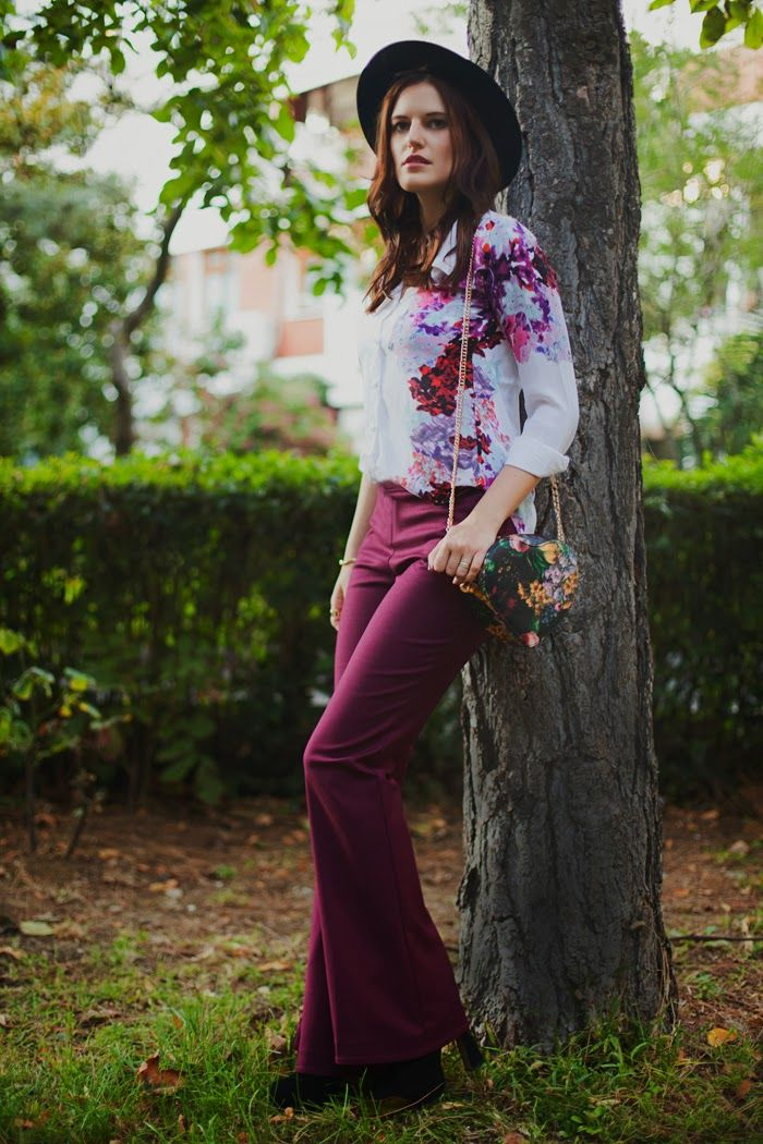 BOHO MOOD: WIDE PANTS AND HEART SHAPED BAG